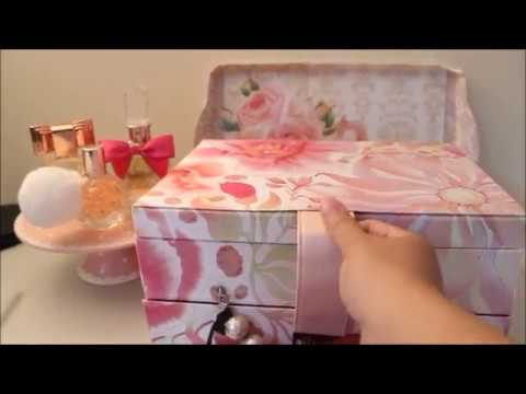 My cute floral storage box/ Come see the treasures inside