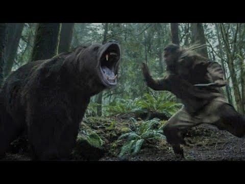 СЦЕНА атаки МЕДВЕДЯ из сериала ВИДЕТЬ. BEAR attack scene from the serial «SEE»