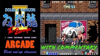 Double Dragon Arcade on PS4. Walkthrough and Game Options