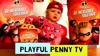 DISNEY PIXAR INCREDIBLES 2 MOVIE - MCDONALD'S HAPPY MEAL TOY UNBOXING &  REVIEW - KIDS YOUTUBE VIDEO