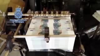 Cae un grupo internacional de falsificación de dinero