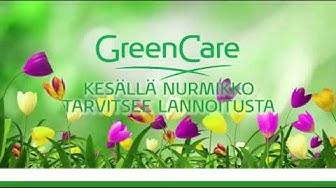 Kesällä nurmikko tarvitsee lannoitusta GreenCare