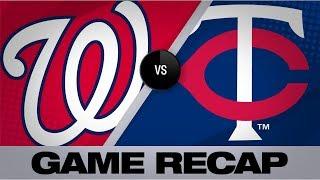Berrios' gem, Garver's HR propel Twins | Nationals-Twins Game Highlights 9/10/19