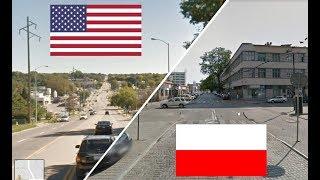 Польша и США. Сравнение. Катовице - Омаха. Poland - USA. Polska - USA