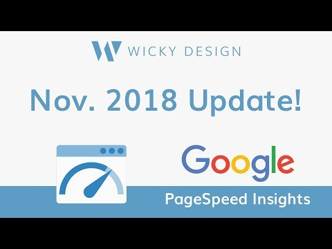 Google PageSpeed Insights - November 2018 Update - YouTube