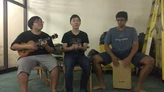 Aloha Nichidai Busan! While My Guitar Gently Weeps Ukulele Vocal and Cajon