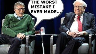 The Mindset of a billionaire-Warren Buffett And Bill Gates Biggest Investment Mistake ? 2021