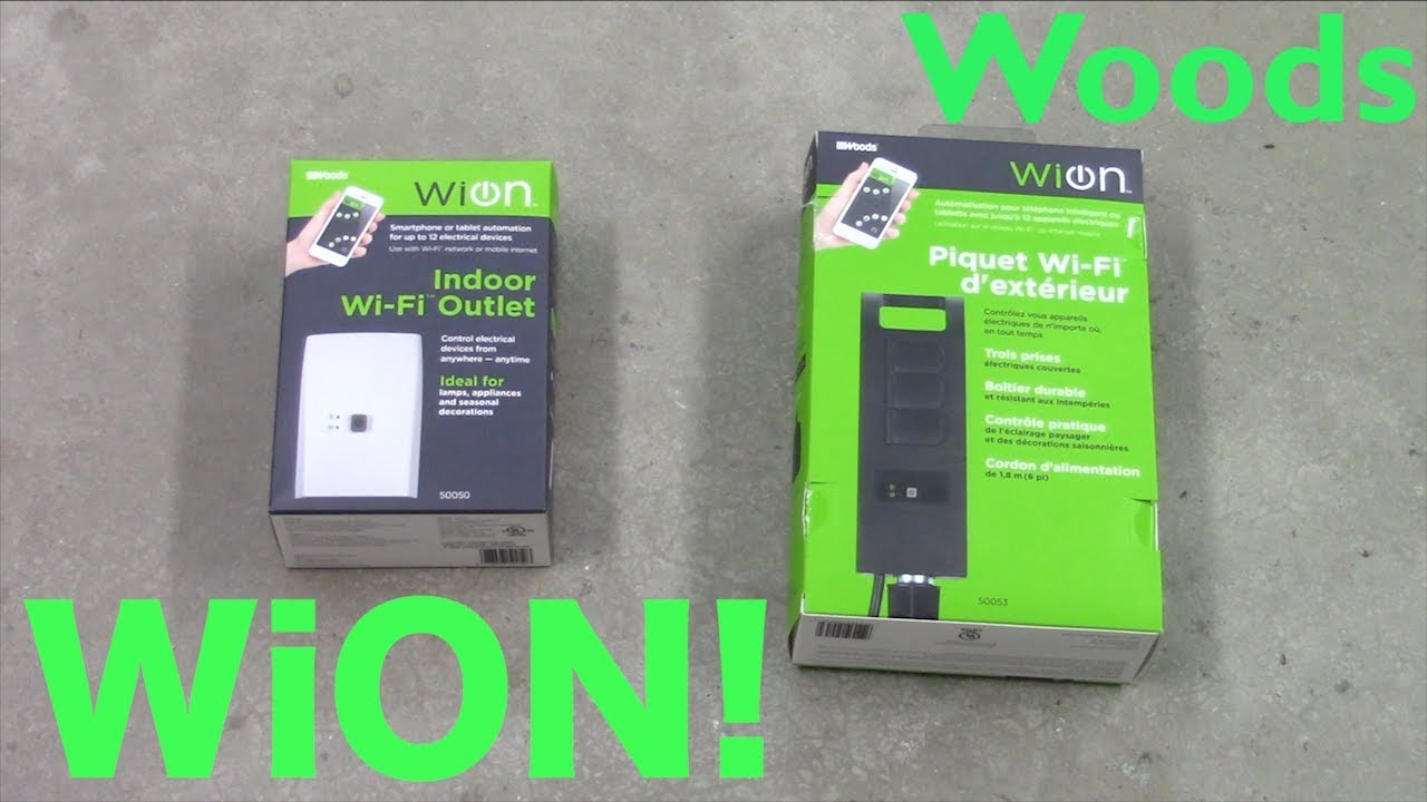 The Woods WiON Wi-Fi Outlet Series
