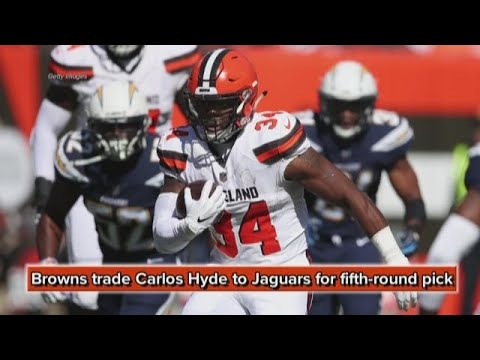 new style 0f7d8 90a47 Cleveland Browns trade RB Carlos Hyde to Jacksonville Jaguars for  fifth-round pick