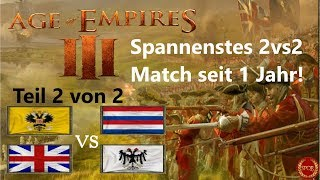Spannenstes Match seit 1 Jahr - Teil 2 -  Age of Empires III 2vs2 | Russland [Deutsch/HD]