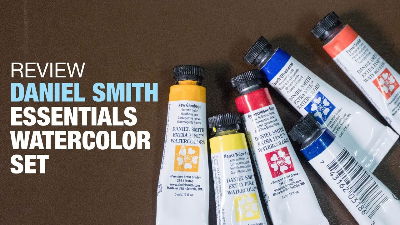 review daniel smith essentials watercolor set youtube
