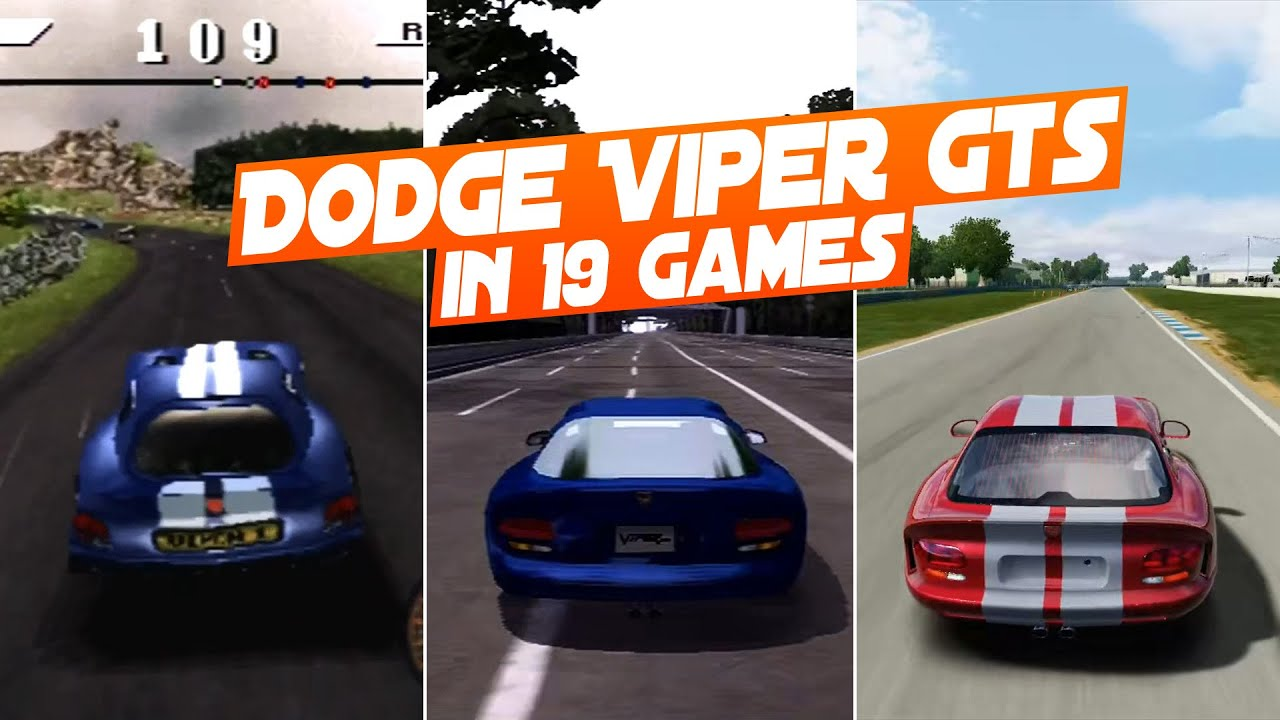 dodge viper video game DODGE VIPER GTS in 2 Racing Games.