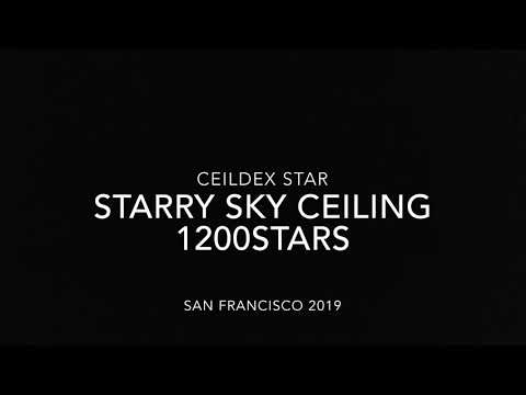 Amazing starry sky ceiling from CeilDex in San Francisco