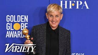 Ellen DeGeneres Looks Up To 'SNL's' Kate McKinnon - Full Backstage Golden Globes Speech