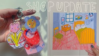 art studio vlog 021: where i've been + shop update