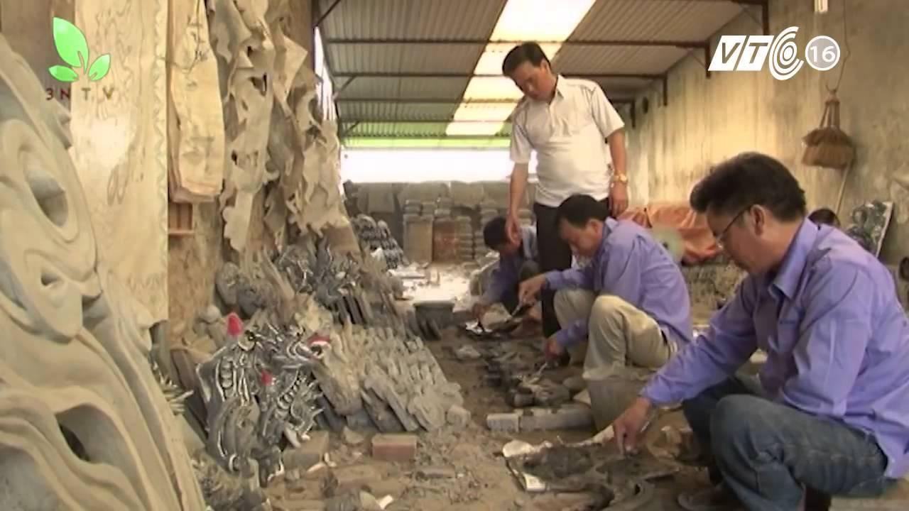 Nghệ nhân đắp phù điêu nức tiếng vùng  Kinh Bắc