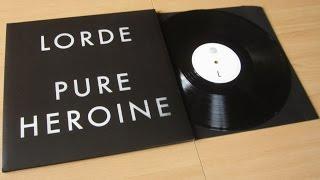 Lorde - Pure Heroine / unboxing vinyl LP /