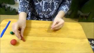 Как слепить яблоко из пластилина