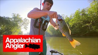 (No Music) Bass Fishing on the French Broad River