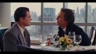 El Lobo de Wall Street (Wolf of Wall Street) Consejos y Martinis en el Restaurante Subtitulado