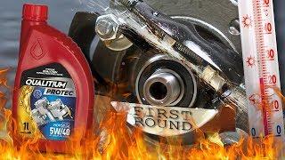 Qualitium Protec 5W40 Jak skutecznie olej chroni silnik? 100°C