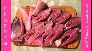 Фото Как разделать горбушу на стейкиразделка красной рыбыгорбушафорельсемгана стейкисуп