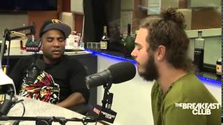 Post Malone very awkward interview breakfast club