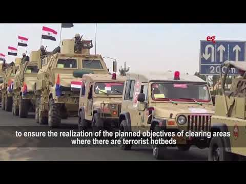 Egypt army's statements on 'Sinai 2018' operation_English