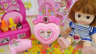 Baby doll jewelry box and hair shop play baby Doli house