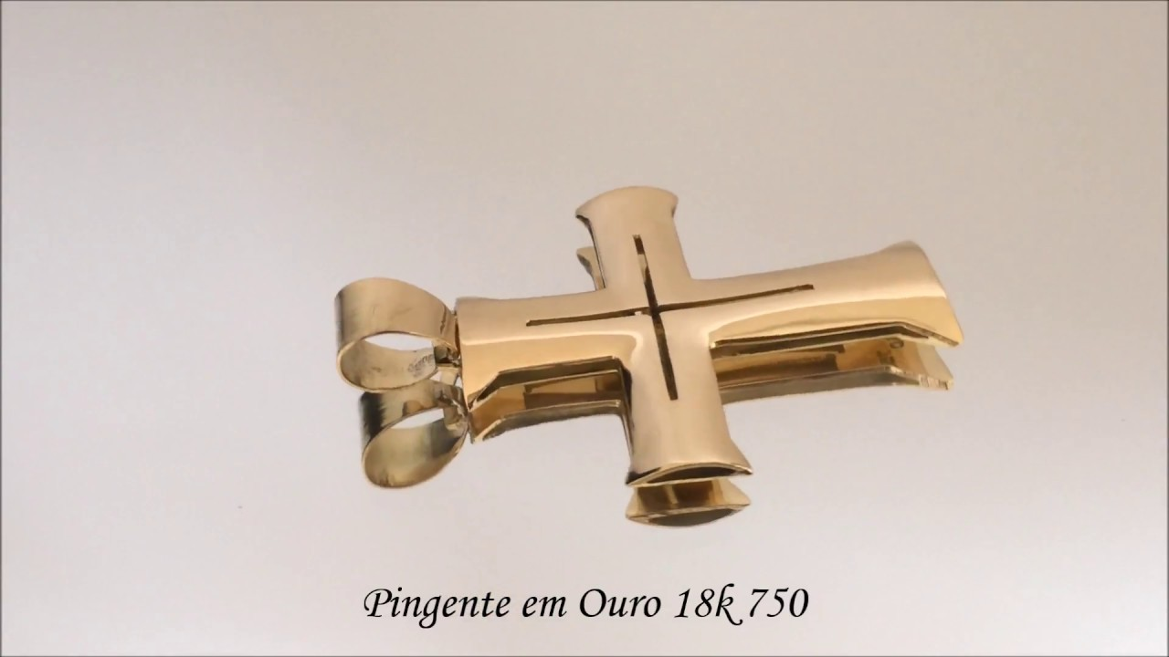 7af9f1bbe2230 Don Joalheria - Pingente Crucifixo Romano em Ouro 18k 750 10 Gramas ...
