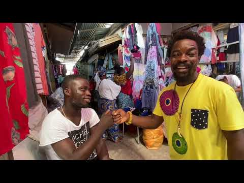 "Thrift shopping 🛍 in Ghana 🇬🇭 at the Kantamanto Market aka ""Bend Down Boutique"""