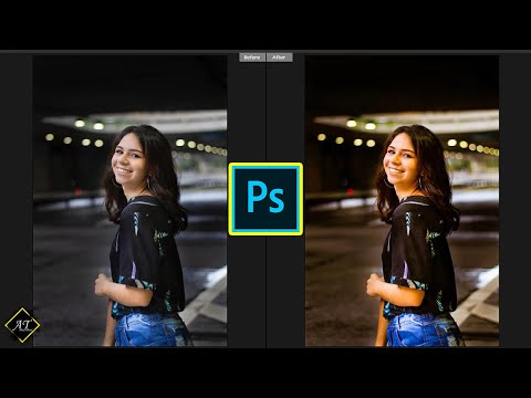 How to Edit Night Portrait Photography Using Camera Raw Presets | Photoshop Tutorial thumbnail