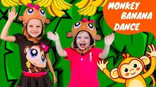 Monkey Banana Dance Song   Baby Monkey Animals   Olivia Kids Tube