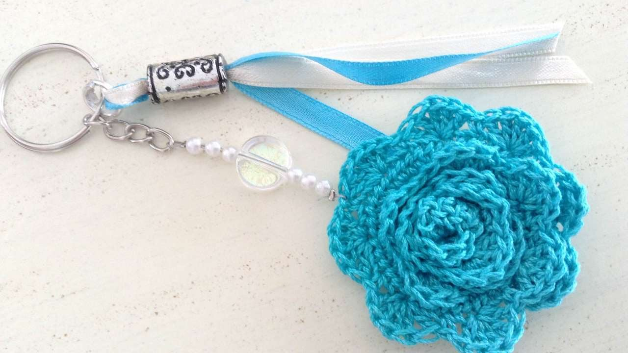 How To Crochet A Beautiful Beaded Keychain - DIY Crafts Tutorial ...