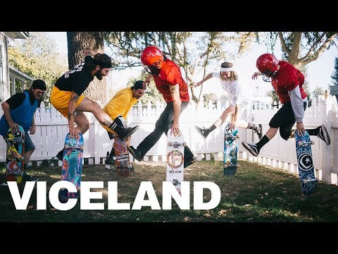 Pro Skateboarders Become Jocks For The Day