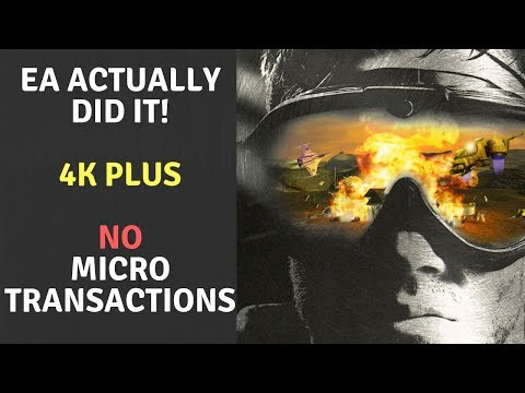 Command & Conquer 4K Announced!  NO MICROTRANSACTIONS!