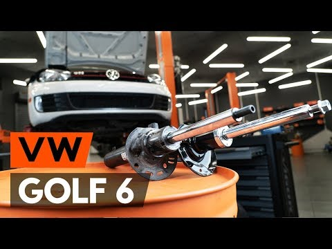 How to replace a front shock strut on VW GOLF 6 (5K1) [TUTORIAL AUTODOC]