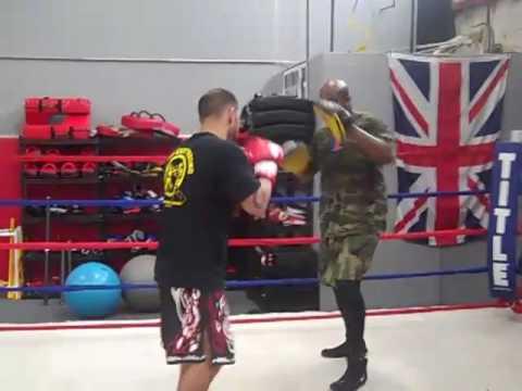 Working hard at Fresno Kickboxing Academy