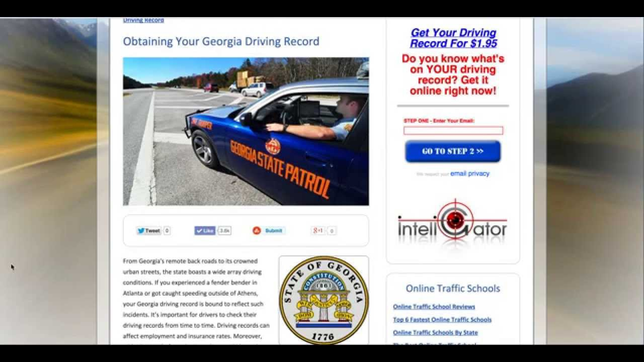 How To Get Your Georgia Driving Record Fast & Easy