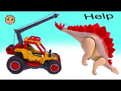 Help Dinosaur Is Stuck !  Shopkins + Playmobil Play