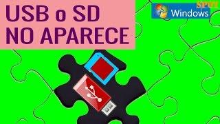 Solución si un USB o SD no aparece en Equipo o Mi PC de Windows
