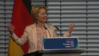 President-elect Ursula VON DER LEYEN addresses the 'State of Europe'  in Berlin