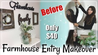 Farmhouse Entryway Makeover   Revamp & Decorate With Me   Momma From Scratch