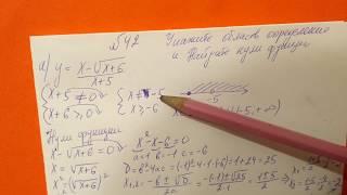 42 Алгебра 9 класс. Укажите область определения. Найдите нули функции