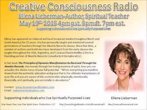 Creative Consciousness Radio Wirh Allena Lieberman May 18th 2015  Florida