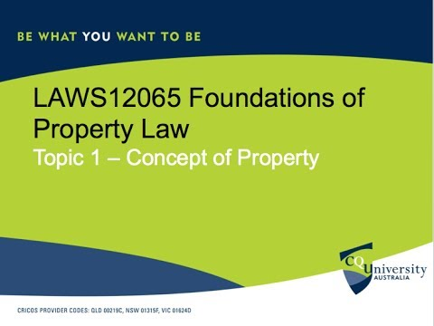 LAWS12065 Foundation of Property Law Topic 1 Concept of Law Tutorials Problems 1-3