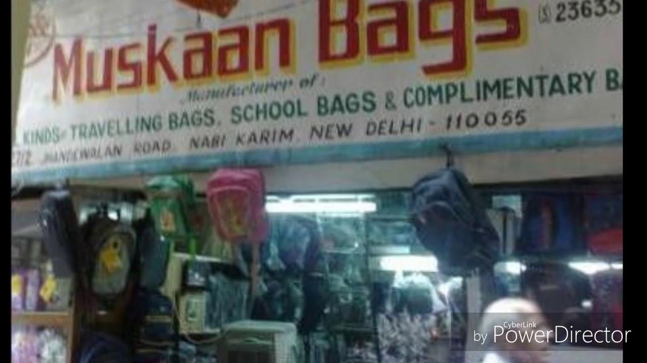 87bc4d45b52 Wholesale Bag Market in Delhi Sadar Bazar, Nabi karim ( kam daam me ...