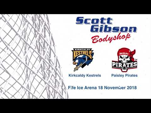 Kirkcaldy Kestrels vs Paisley Pirates 18 Nov 18 Fife Ice Arena