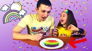 Эксперимент для детей Скитлс радуга Опыт со Скитлс Детское видео Skittles Science Experiments