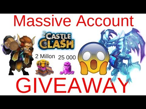 Massive Account Giveaway With Over 25 000 Gems Castle Clash